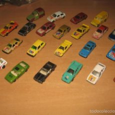 Coches a escala: LOTE 57 COCHES METAL PILEN GISIMA GUILOY MIRA GUISVAL MADE IN SPAIN + 20 COCHES DE REGALO. Lote 61084791
