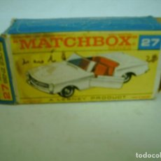 Coches a escala: MATCHBOX CAJA VACIA MERCEDES BENZ 230 SL REF 27. Lote 62126776