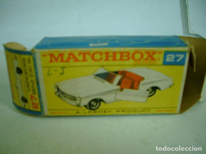 Coches a escala: MATCHBOX CAJA VACIA MERCEDES BENZ 230 SL REF 27 - Foto 2 - 62126776
