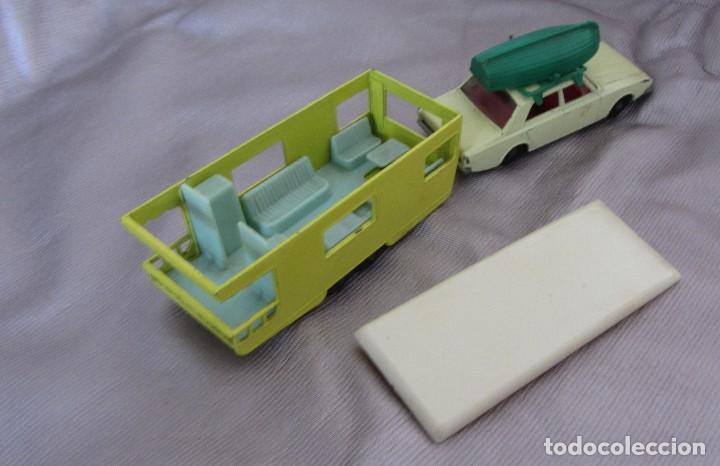 Coches a escala: MATCHBOX SERIES Nº 45 1965 FORD CORSARIO CON BARCA Y CARAVANA 1965 MADE IN ENGLAND BY LESNEY - Foto 6 - 67059274
