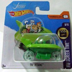 Coches a escala: THE JETSONS , LOS SUPERSÓNICOS - HOT WHEELS MATTEL HW SCREEN TIME 2017 - ESCALA 1:64 - COCHE NAVE. Lote 210411487