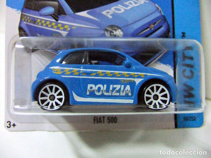 Fiat 500 Polizia Policia Italia Hot Wheels Mattel Logo Treasure T Hunt En Blister Esc 1 64 Coche