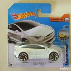 Carros em escala: TESLA MODEL X - HOT WHEELS MATTEL FACTORY FRESH 2017 - ESCALA 1:64 - COCHE AUTO ELÉCTRICO BLANCO. Lote 189830396