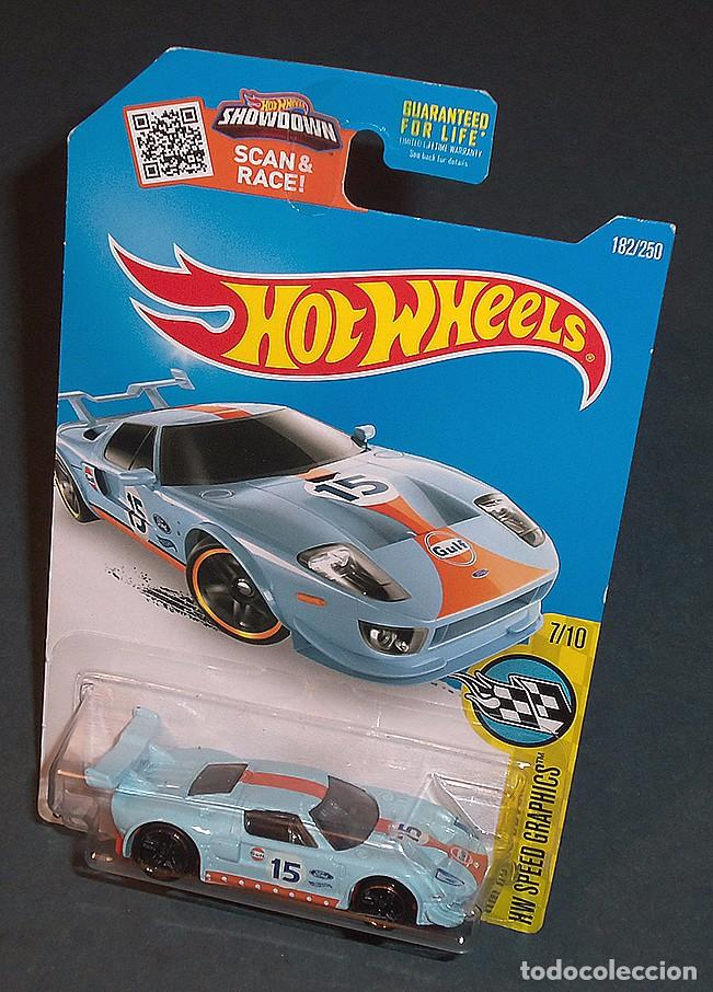 Coche Ford Gt Gulf Hot Wheels   Juguetes Coches A Escala