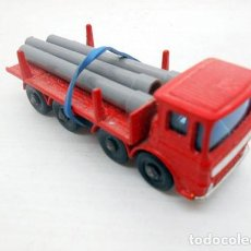 Coches a escala: 56. LESNEY MATCHBOX ORIGINAL CAMION CARGA TUBOS PIPE TRUCK LORRY METAL MODEL. Lote 76516019