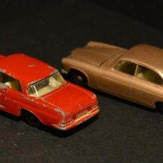Coches a escala: LOTE: MATCHBOX SERIES: JAGUAR MK 10 Nº 28 1964 / MERCEDES BENZ 220 SE Nº 53 1963. Lote 76800943