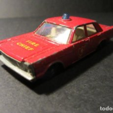 Coches a escala: MATCHBOX SERIES Nº 59 1966 FORD GALAXIE FIRE CHIEF MADE IN ENGLAND BY LESNEY. Lote 76804067