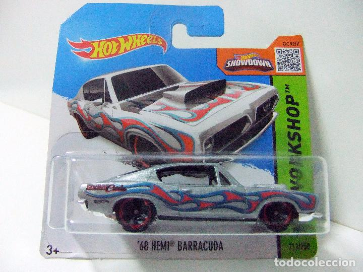 ´68 HEMI BARRACUDA PLYMOUTH - HOT WHEELS MATTEL HW WORKSHOP - ESC 1:64-  COCHE AUTOMÓVIL MINIATURA
