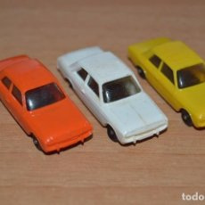 Coches a escala: LOTE DE 3 COCHES FORD TAUNUS MARKLIN - ESCALA 1:87 - H0 / HO - MADE IN GERMANY. Lote 81836452