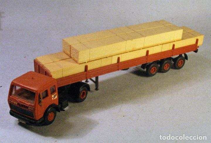 1//87 Kibri 10750 MB Unimog 3 alineación remolque de madera