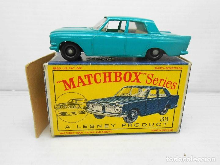 Coches a escala: 1319 MATCHBOX 33 FORD ZEPHYR III MODEL CAR COCHE LESNEY ENGLAND MINIATURA 1/64 - Foto 1 - 85217612