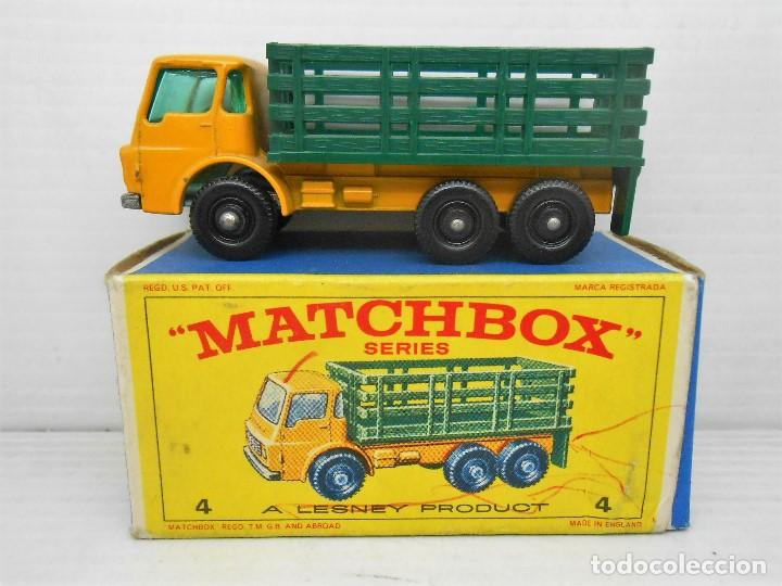 1345 MATCHBOX CAMION STAKE TRUCK REF 4 LESNEY LORRY MINIATURA TRANSPORTE ALFREEDOM (Juguetes - Coches a Escala Otras Escalas )