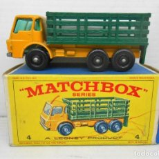 Coches a escala: 1345 MATCHBOX CAMION STAKE TRUCK REF 4 LESNEY LORRY MINIATURA TRANSPORTE ALFREEDOM. Lote 85965516