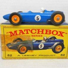 Coches a escala: 1360 MATCHBOX COCHE BRM RACING CAR MODEL FORMULA ONE 1 MINIATURE LESNEY 1/87. Lote 85970360