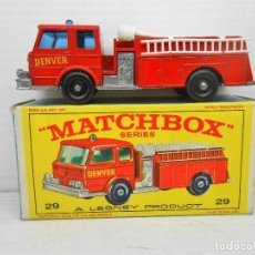 Coches a escala: 1370 MATCHBOX FIRE PUMPER TRUCK CAMION BOMBEROS POMPIER DENVER 29 MINIATURE . Lote 86646360