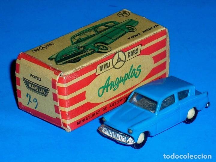 Coches a escala: Ford Anglia *azul* nº 79, plástico esc. 1/86 H0, Anguplas Mini-Cars, original año 1961. - Foto 2 - 87063208