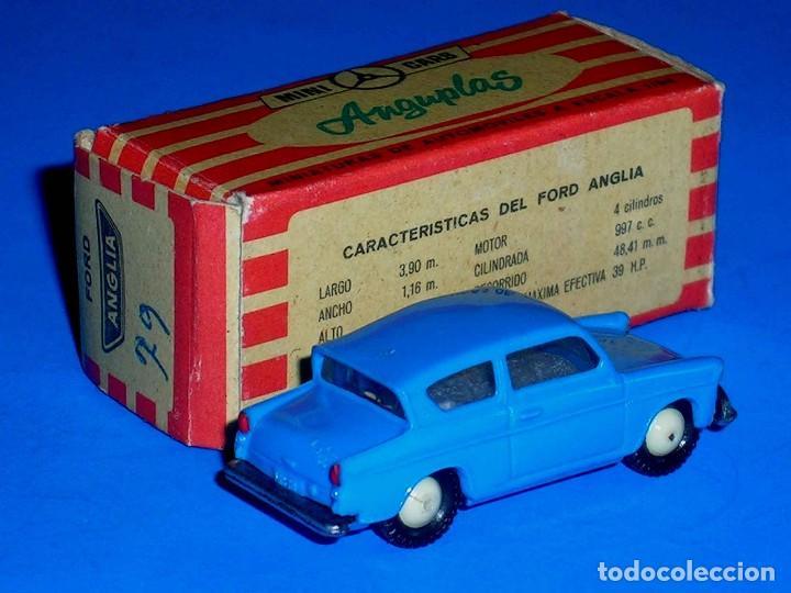 Coches a escala: Ford Anglia *azul* nº 79, plástico esc. 1/86 H0, Anguplas Mini-Cars, original año 1961. - Foto 3 - 87063208