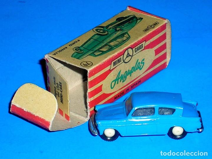 Coches a escala: Ford Anglia *azul* nº 79, plástico esc. 1/86 H0, Anguplas Mini-Cars, original año 1961. - Foto 4 - 87063208