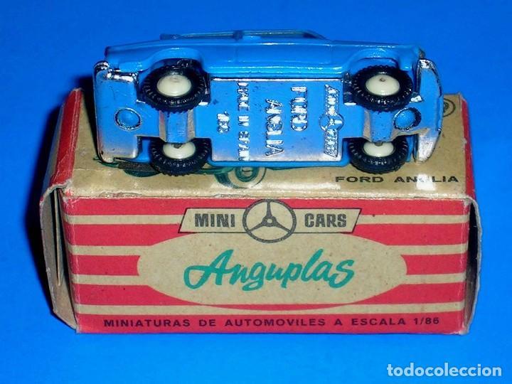 Coches a escala: Ford Anglia *azul* nº 79, plástico esc. 1/86 H0, Anguplas Mini-Cars, original año 1961. - Foto 5 - 87063208