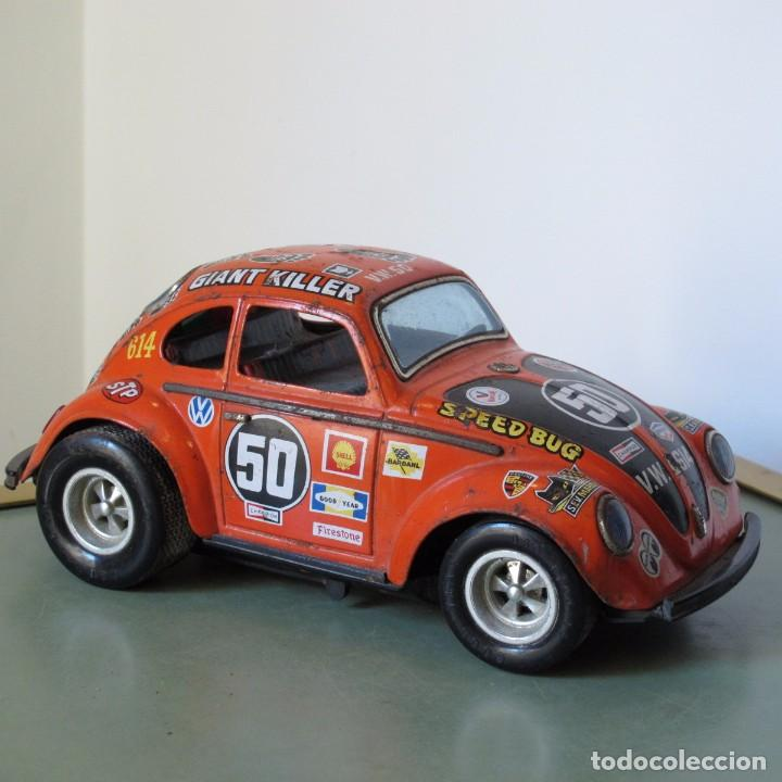 Escarabajo Beetle Toy Taiyo Antique Juguete Japan Wolkswagen Car Antiguo KTJc1lF3