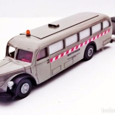 Coches a escala: BREKINA AUTOBÚS BAUSTOFWAGEN MERCEDES BENZ CON REMOLQUE / TRAILER. Lote 93614670