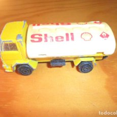 Coches a escala: CAMION FORD COMBUSTIBLE SHELL - 8CM. LARGO METAL MAJORETTE 1/100 . Lote 95731635