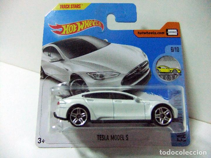 TESLA MODEL S BLANCO - HOT WHEELS HW FACTORY FRESH MATTEL ESCALA 1:64 COCHE  AUTOMÓVIL ELÉCTRICO