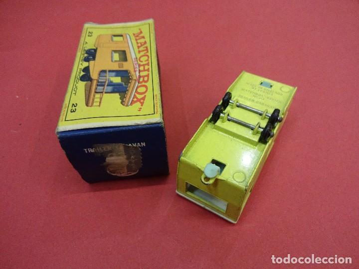 Coches a escala: CARAVANA MATCHBOX TRAILER CARAVAN Nº 23 CAJA ORIGINAL MADE IN ENGLAND - Foto 4 - 103072659