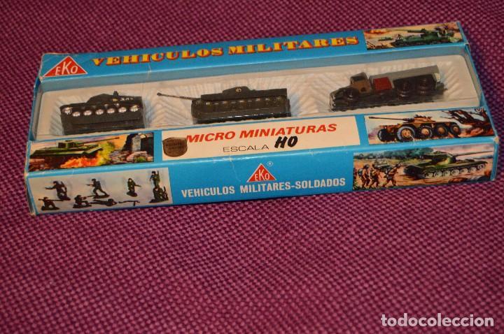 Coches a escala: CAJA/estuche con 3 MICRO MINIATURAS VEHÍCULOS MILITARES ESCALA H0 EKO - MADE IN SPAIN ¡Dificil! 04 - Foto 10 - 103533955