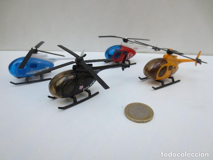 4 Helicoptero Cuatro X Apox Miniatura En 8 Metal Y6gybf7