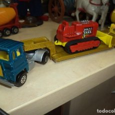 Coches a escala: CAMIÓN GÓNDOLA SCAMMELL TRACTOR.MADE IN ENGLAND 1973 MATCHBOX LESNEY SUPER KINGS.. Lote 106677315