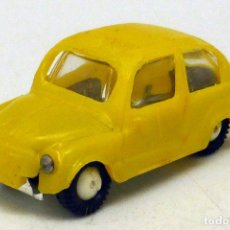 Coches a escala: SEAT 600 ANGUPLAS MINI CARS AMARILLO Nº 4 MADE IN SPAIN 1/86 AÑOS 60. Lote 106926411