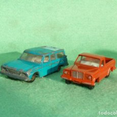 Coches a escala: LOTE MATCHBOX LESNEY SERIES JEEP GLADIATOR 71 Y STUDEBAKER LARK 42 MADE IN ENGLAND AÑOS 60. Lote 107320023