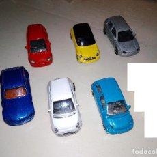 Coches a escala: MAJORETTE - 6X COCHES MODERNOS BMW, MINI, MERCDES, FIAT, TOYOTA, VOLKSWAGEN. Lote 109158359