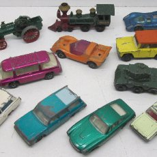 Coches a escala: LOTE COCHES METÁLICOS MATCHBOX,PILEN,GUISVAL,FREEMAN INTER-CITY,MERCEDES BENZ BINZ AMBULANCE,FIELD... Lote 110055118