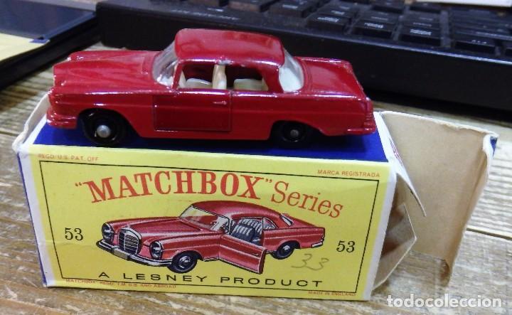 MATCHBOX 53 MERCEDES BENZ COUPE COCHE METAL MODEL CAR MINIATURA 1/64 (Juguetes - Coches a Escala Otras Escalas )