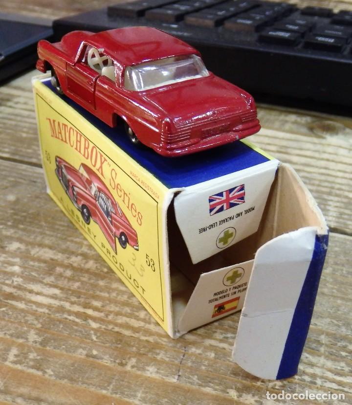 Coches a escala: MATCHBOX 53 MERCEDES BENZ COUPE COCHE METAL MODEL CAR MINIATURA 1/64 - Foto 2 - 112205651