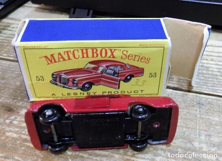 Coches a escala: MATCHBOX 53 MERCEDES BENZ COUPE COCHE METAL MODEL CAR MINIATURA 1/64 - Foto 3 - 112205651