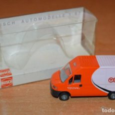 Coches a escala: ANTIGUA FURGONETA COMERCIAL FIAT DUCATO TNT EXPRESS - ESCALA 1:87 - BUSCH MADE IN GERMANY - HAZ OFER. Lote 113526415