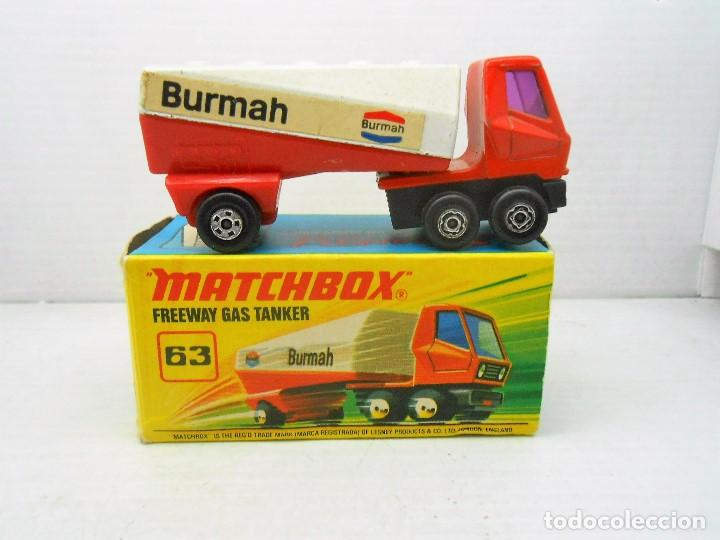 Coches a escala: 1672 MATCHBOX ORIGINAL FREEWAY GAS TANKER REF 63 CAMION TRUCK CON CAJA SUPERFAST ENGLAND - Foto 1 - 114185667