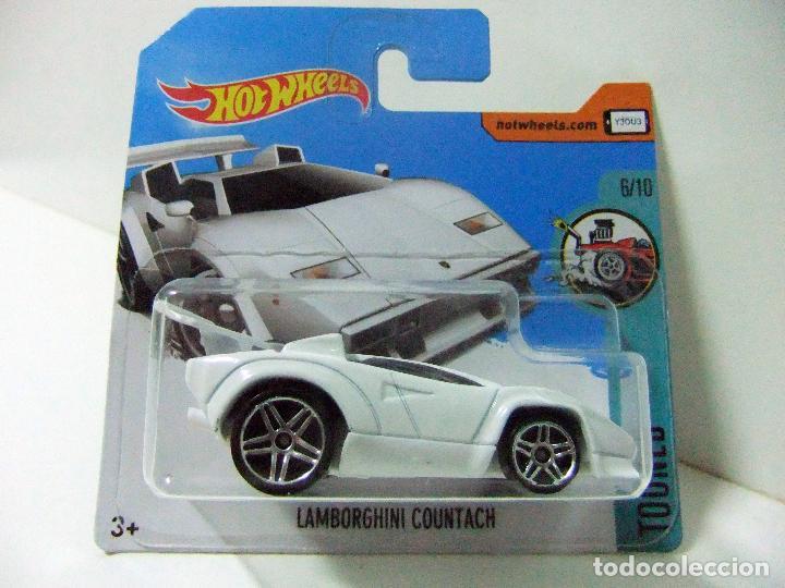 lamborghini countach blanco - hot wheels mattel - kaufen modellautos