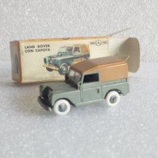 Coches a escala: LAND ROVER CUBIERTO TECHO MARRÓN Nº 27 ANGUPLAS MINI-CARS AÑO 1959 IMPECABLE . Lote 115294863
