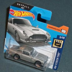 Coches a escala: COCHE ASTON MARTIN DB5 DE JAMES BOND 007 - HOT WHEELS 1/64. Lote 179817126