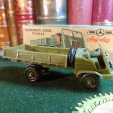 Coches a escala: BARREIROS DIESEL TT.90.22 - MINI CARS 48 - DIVISION TRANSPORTES - Nº13 - SERIE E - ANGUPLAS. Lote 116421951