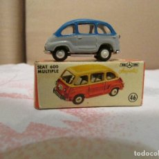 Modellautos - ANGUPLAS ORIGINAL MINI-CARS COCHE SEAT 600 MULTIPLA CAR 1/86 miniatura REF: 46 fiat Made Spain - 116891151