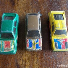 Coches a escala: LOTE COCHES MARCA MIRA AUDI CUATTRO LANCIA 037 PEUGOT 205 MADE IN SPAIN. Lote 117712675