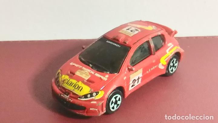 COCHE MINIATURA. MAJORETTE. PEUGEOT 206 WRC. RALLY (Juguetes - Coches a Escala Otras Escalas )