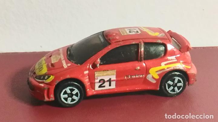 Coches a escala: COCHE MINIATURA. MAJORETTE. PEUGEOT 206 WRC. RALLY - Foto 2 - 120373103