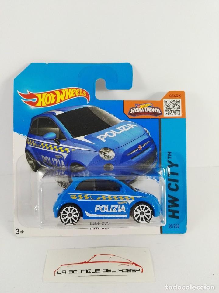 Fiat 500 Polizia Treasure Hunt 2015 Hot Wheels Sold Through Direct