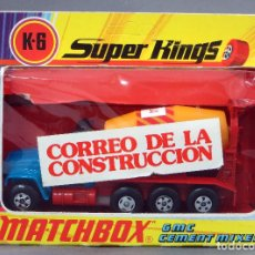 Coches a escala: HORMIGONERA CEMENT MIXER MATCHBOX SUPER KINGS LESNEY K 6 MADE IN ENGLAND AÑOS 70 CON CAJA. Lote 278369993